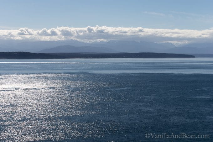 View of Olympic Mountains from Ebey's National Historical Reserve + Lemon Tahini Cashew Granola