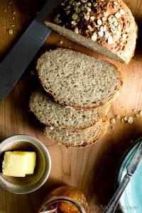 Overhead shot of Oatmeal-Maple Bread