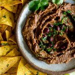 Closeup Chipotle Black Bean Dip
