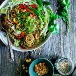 Sesame-Ginger Noodle Salad with Cashews