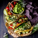 Packed with juicy summer flavors: Creamy Zucchini, Corn and Poblano Tacos | Vegetarian | Gluten Free | Freezer Friendly