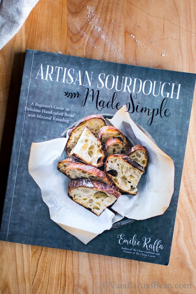 A book titled Artisan Sourdough.