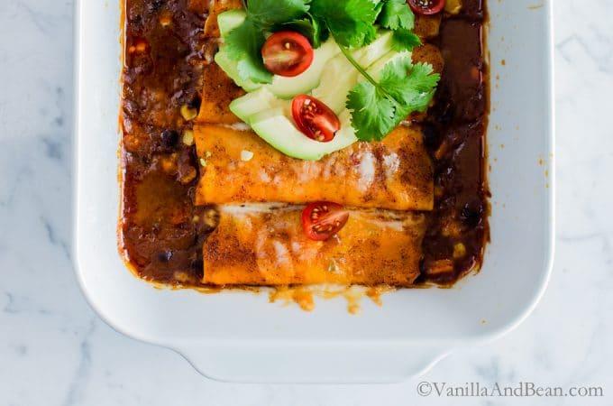 How to make Sweet Potato Wrapped Black Bean Enchaladas using KitchenAid® Vegetable Sheet Cutter Attachment (#ad) | Dinner | Vegetarian | Recipe | Vegetarian Food