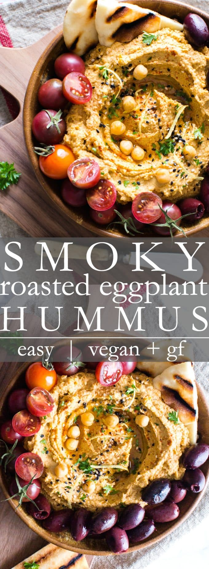 Smoky Roasted Eggplant Hummus