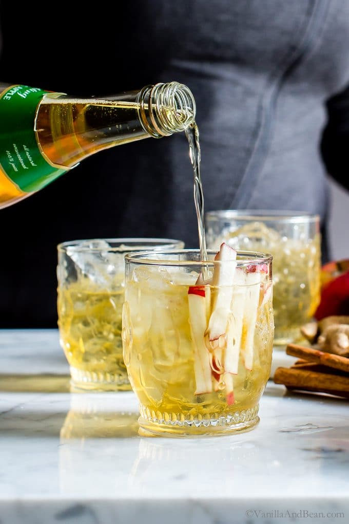 Sparkling Apple Bourbon Sangria - Vanilla And Bean