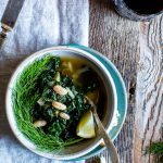Lemon-Garlic White Bean, Kale and Fennel Soup