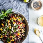 Packed with texture and Thai flavors, simple to make Forbidden Rice Salad with Mango, Bok Choy and Coconut Curried Dressing is meal prep easy, hearty and so satisfying! #VegetarianRecipes #Vegan #GlutenFree