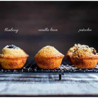 Almond-Orange Mini Tea Cakes with Brown Butter - three ways! #Teacake #Mothersday #Easter #MiniCake #Recipe