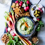 Pesto-Spinach Whipped Ricotta Dip