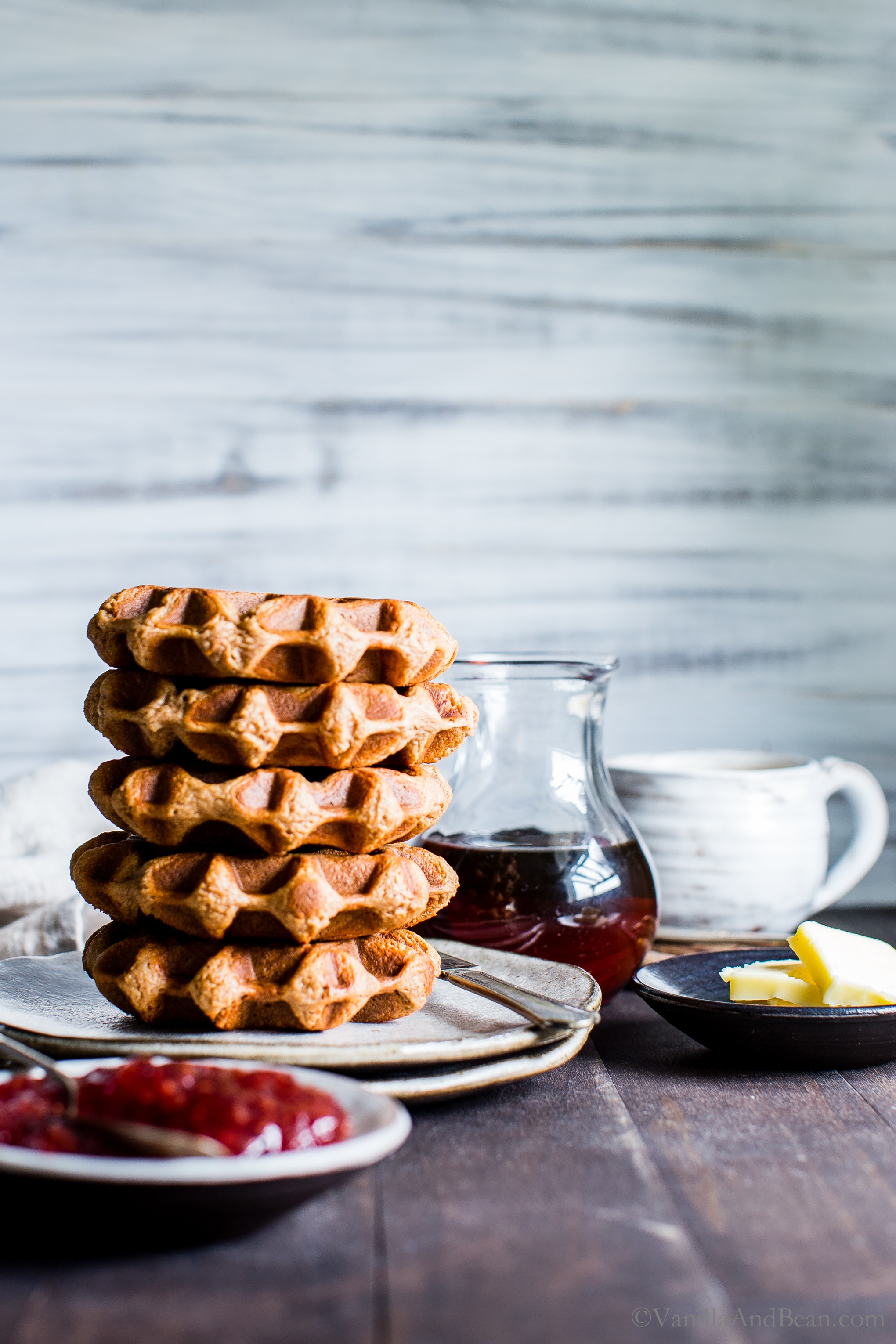 Banana-Pecan Oat Waffles | Vanilla And Bean
