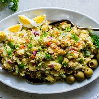 Green Olive and Egg Potato Salad