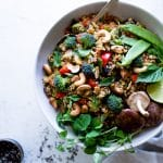 Thai Vegetable Cauliflower Fried Rice with Cashews