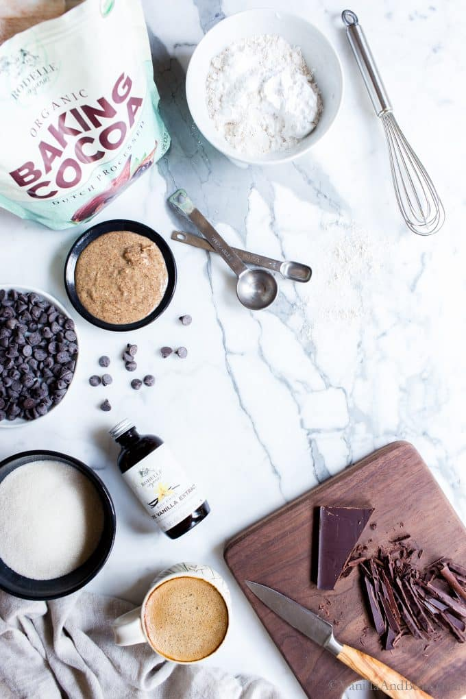Ingredients for Homemade Espresso Brownies
