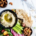 Roasted Eggplant Artichoke White Bean Dip