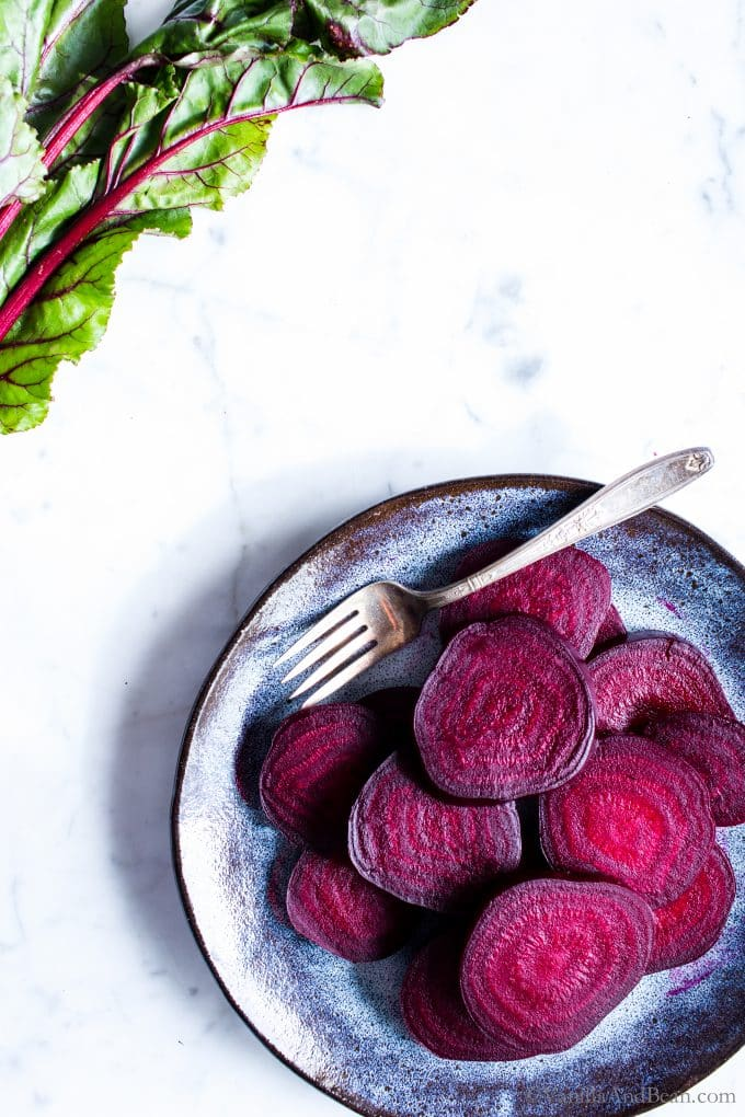 A favorite root vegetable for salads, pickling, smoothies, dips or snacking, I'm sharing  my best tips for Roasted Beets using a simple, no waste method.