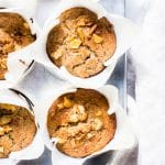 Breakfast Banana Nut Muffins in a pan ready for sharing.