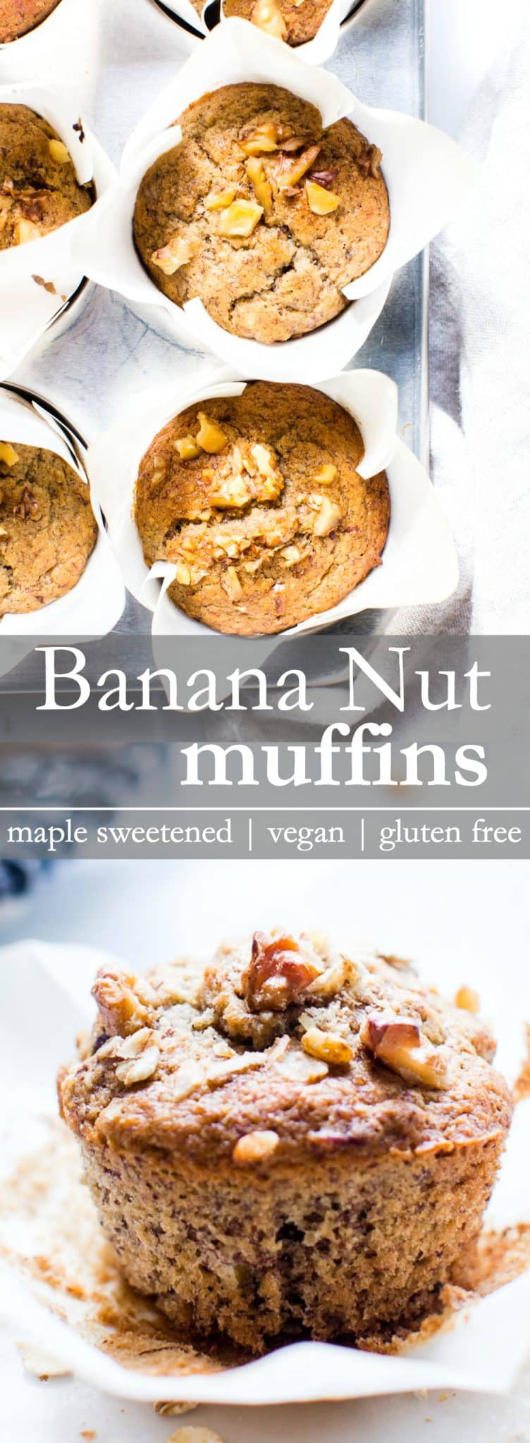 Naturally sweetened and one bowl easy, Breakfast Banana Nut Muffins are a healthy grab n' go breakfast or afternoon snack!