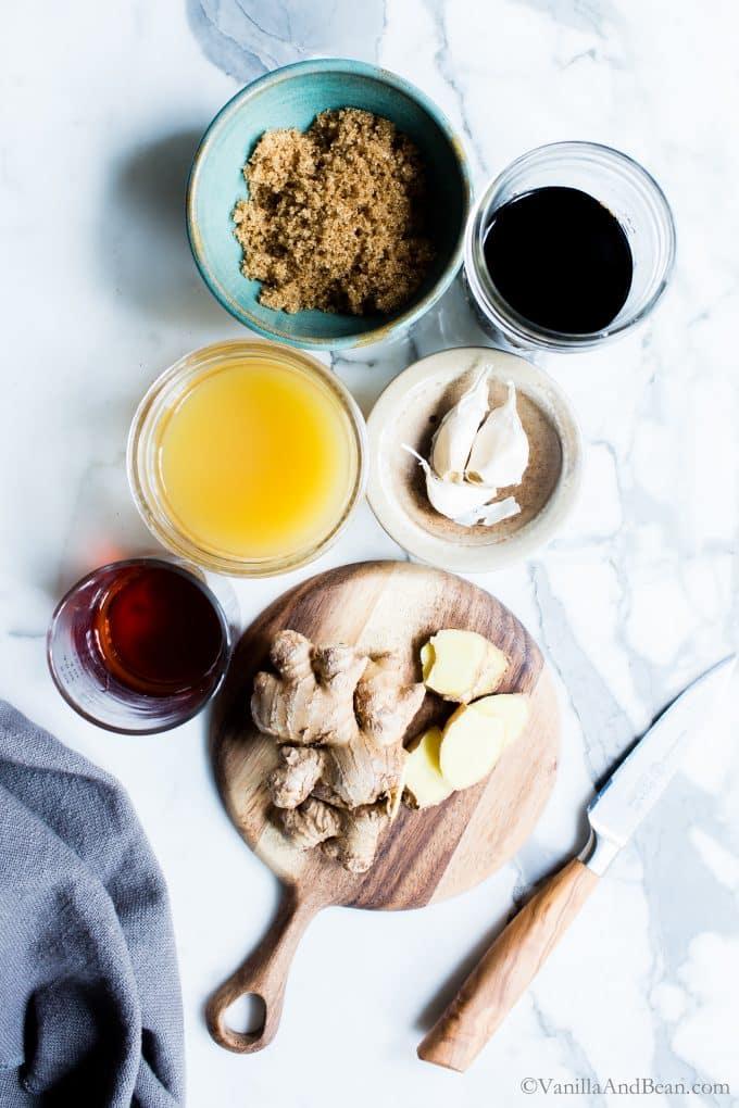 Ginger-Garlic Teriyaki Sauce Ingredients.