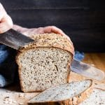 Texture rich, flavorful and tender, homemade Seeded Multigrain Gluten-Free Sourdough Bread is gluten free bread you'll look forward to eating! #GlutenFreeSourdough #Sourdough #SourdoughBread #Bread #NaturallyLeavened