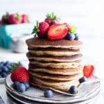 Stack of Gluten Free Sourdough Pancakes