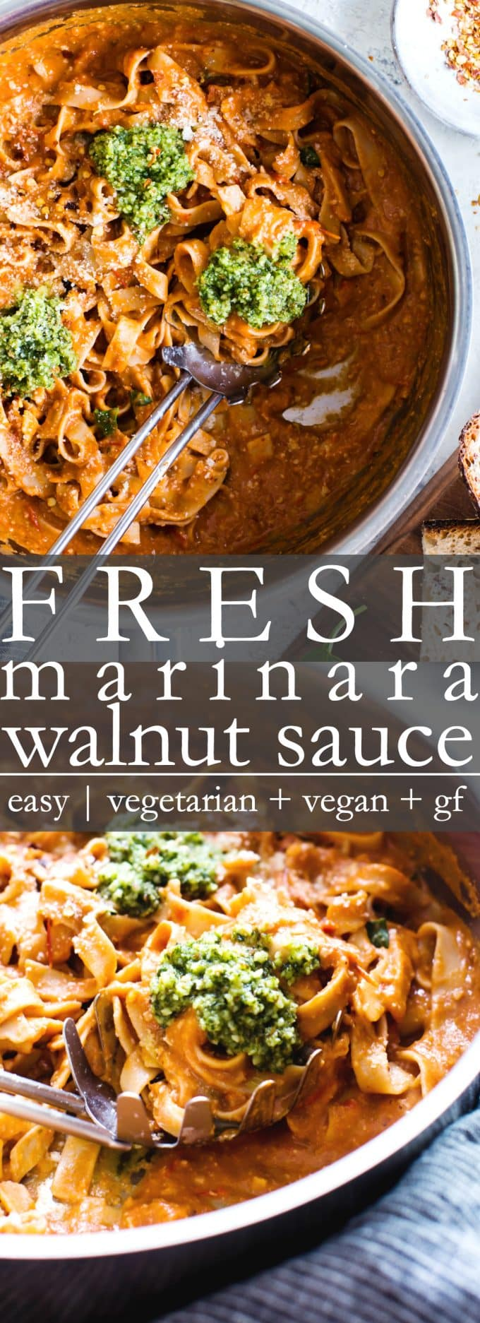 Homemade Marinara Walnut Sauce Pin