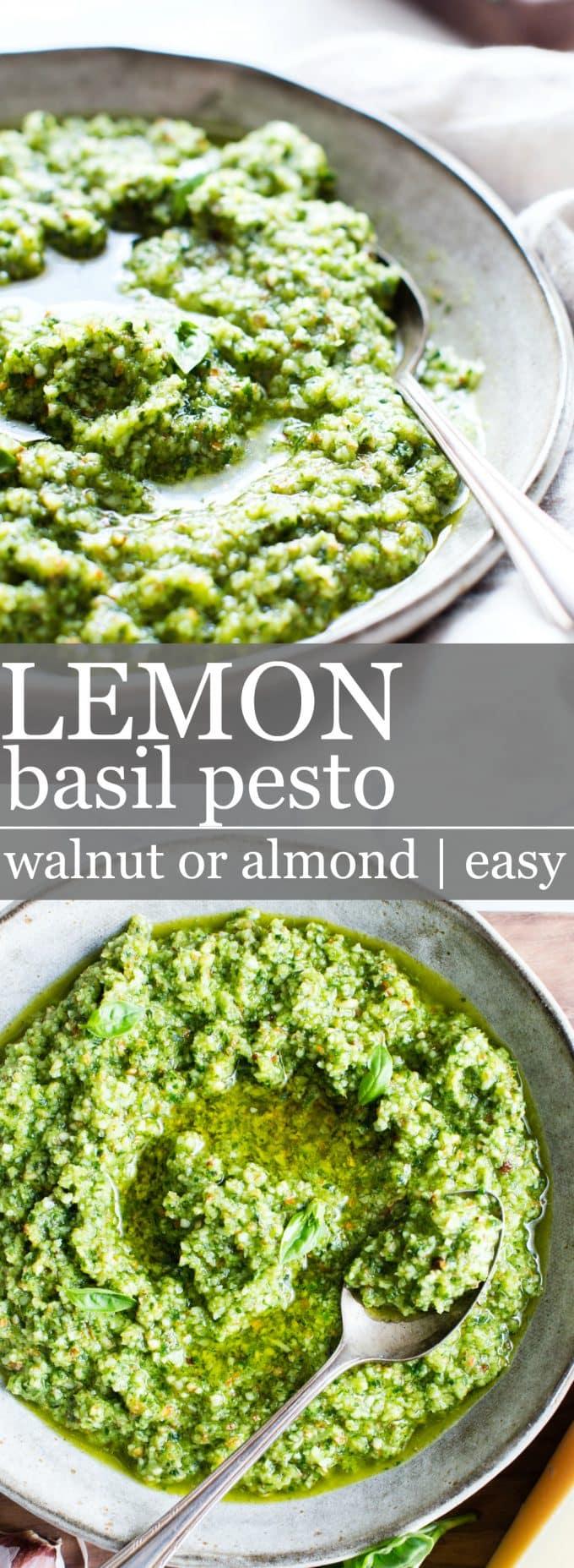 Lemon Basil Pesto Pinterest Pin