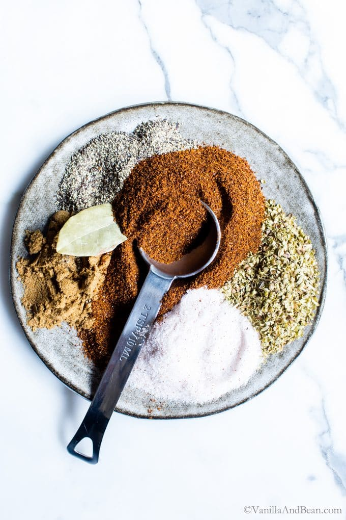 Spices for hearty crock pot vegetarian chili.