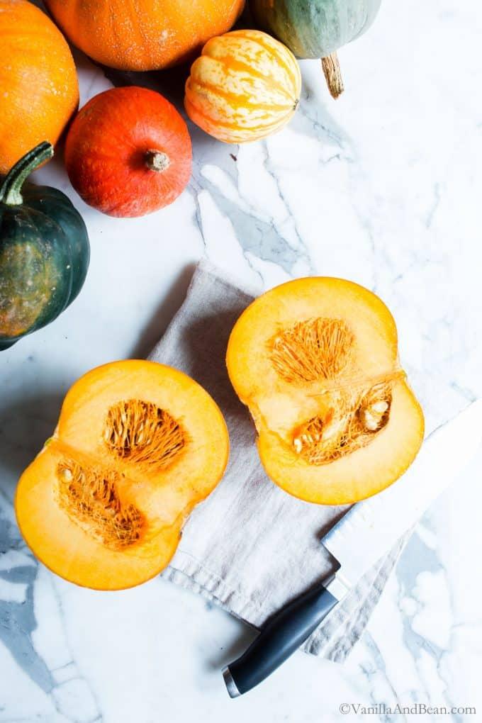 Cutting open a Roasting Pumpkin
