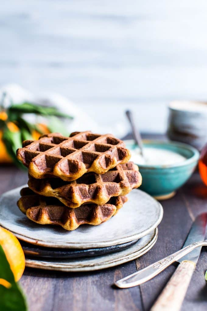 Healthy Waffles on a Plate