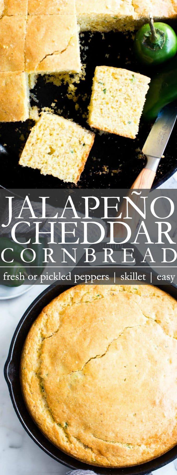 Jalapeno Cheddar Cornbread Pinterest Pin