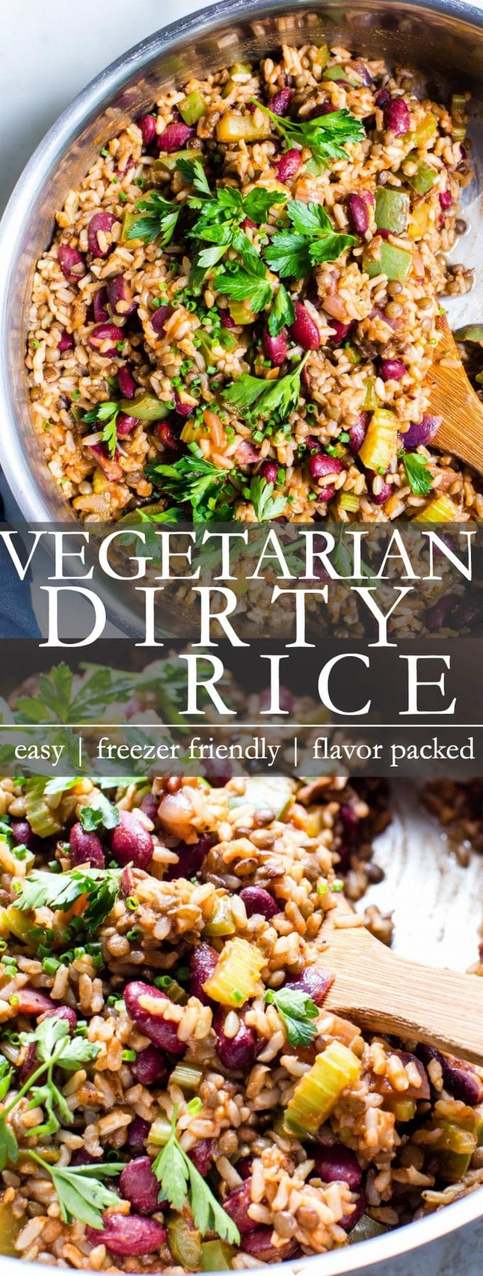 Vegetarian Dirty Rice Pinterest Pin