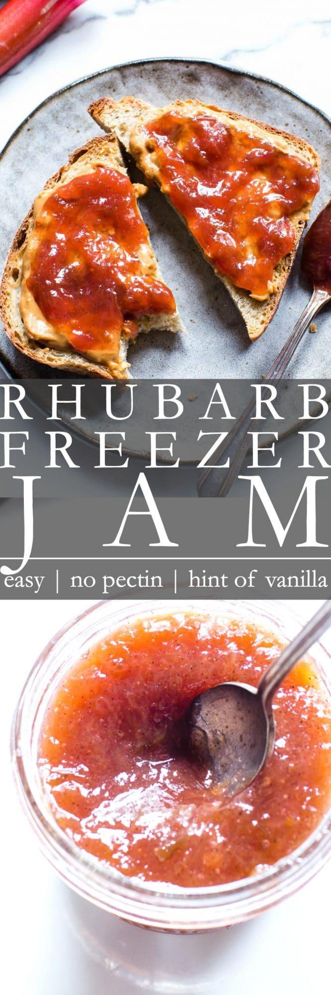 Rhubarb Freezer Jam Pinterest Pin