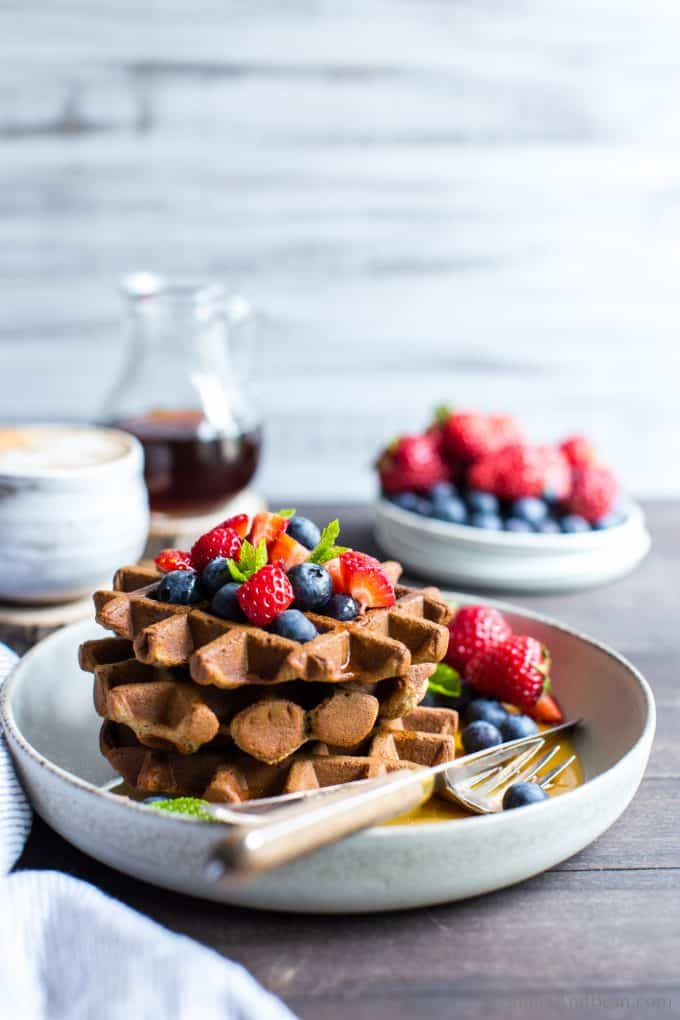 Easy Gluten Free Sourdough Waffles