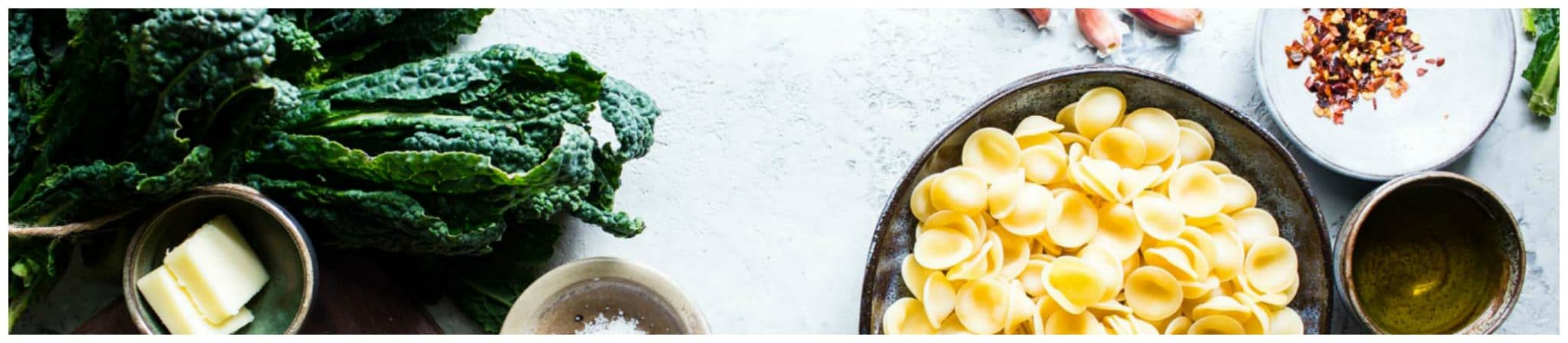 Ingredients for Pasta and Kale Recipe
