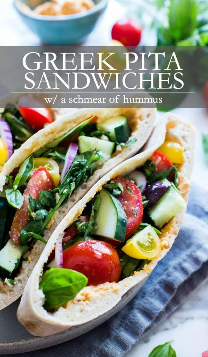 Greek Pita Sandwiches Pinterest Pin